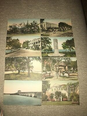 South Carolina (majority Beaufort) Hand Colored Postcards