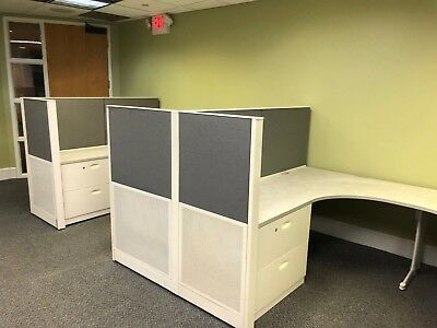 """Lot of 5 - 6' x 8' x 54""""H Cubicles / Partitions by Steelcase Office Furniture"""