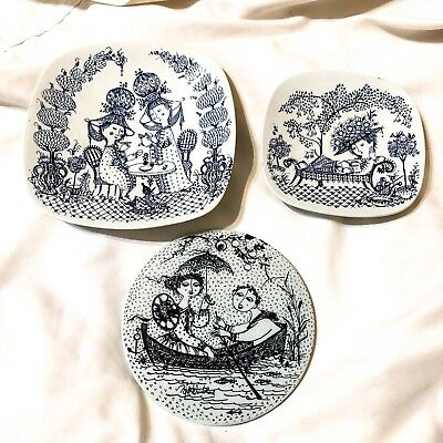 Vintage Antique Nymolle Denmark Bjorn Wiinblad Lot Nocturne Siesta Tea For Two