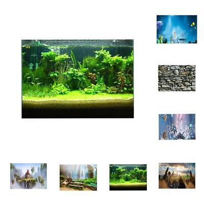 3D Aquarium Fancy Background Poster Fish Tank Wallpaper Sticker Underwater Decor