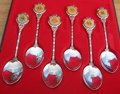 Collectable Set Of 6 Spoons - Americas Cup Defence - 1987 - In Case