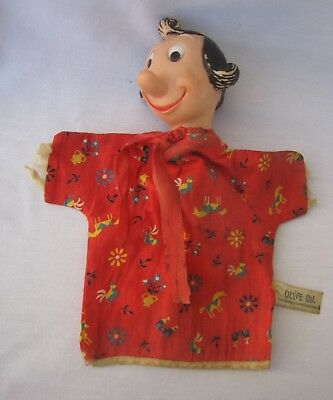 Vintage OLIVE OIL Oyl From Popeye HAND PUPPET