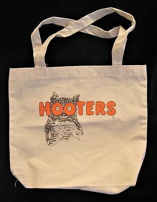 Vintage HOOTERS Cloth TOTE BAG Canvas Carry SHOULDER Style