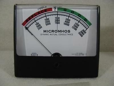 New Simpson Meter for Hickok 600A 533A - 500μA @ 233 Ohms - Wide-View Meter *.*