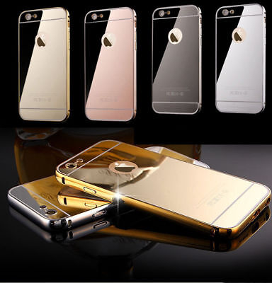 ShockProof Luxury Mirror Aluminum Metal Bumper Case for Apple iPhone 5 5s SE