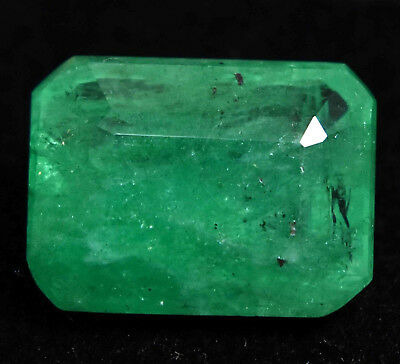 9.00 Ct Natural Green Colombian Emerald Gem Stone AGSL Certified Emerald Cut