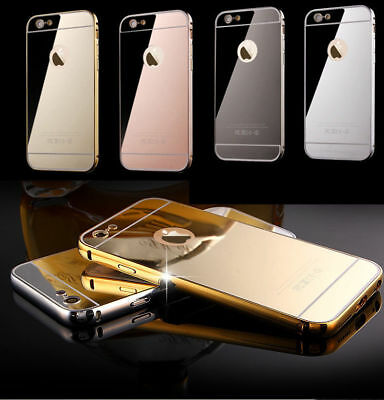 ShockProof Luxury Mirror Aluminum Metal Bumper Case for Apple iPhone 6 6s 6 Plus