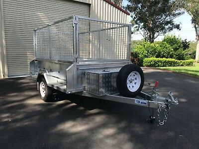 Box Trailer Hire - 8Ft X 5Ft Heavy Duty - $75 Per 24 Hour Period