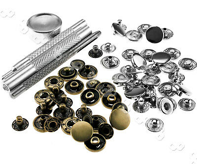12mm Brama Poppers Snaps Fastener Press Studs Sewing Leather Craft Clothes