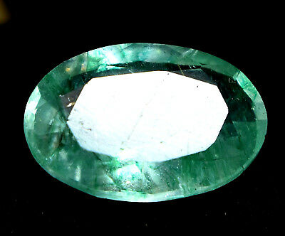 Loose Gem Stone 5.35 Ct Natural Green Colombian Emerald AGSL Certified Oval