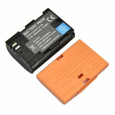 LP-E6 7.4V 2650mAh Large Capacity Lithium Battery Pack For Canon 6D 80D DT