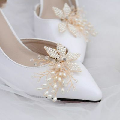 Shoe Clip Handmade Pearl Wedding Shoes Bride High Heel Decoration Floral Charms