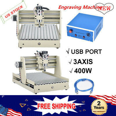 New 3 Axis USB CNC 3040 Router Engraver Drill Mill Motor DIY 3D Cutter 400W VFD