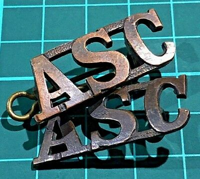 2 Original Ww1 Army Service Corps (British) Brass Badge Pins-1 Complete 1 Not