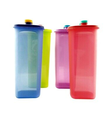 Tupperware Fridge Water Bottle 2L On The Go Blue/Purple/Red/Green