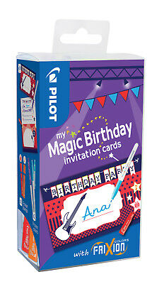 "Pilot my Magic Birthday Cards ""PARTY"" Set mit FriXion Color Stift und Stempel"