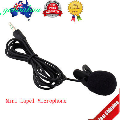 Portable Mini 3.5mm Tie Lapel Lavalier Clip Microphone for Lectures Teaching AZ