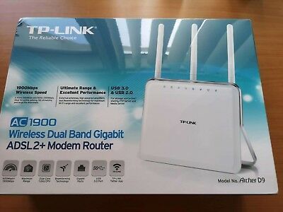 *NEW* TP-Link Archer D9 Wireless AC1900 Dual Band ADSL2+ Gigabit Modem Router
