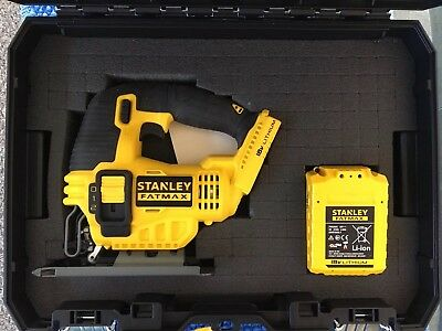 Stanley Fatmax Cordless Jig Saw with 18V 4.0 Ah Battery In Carry Case.