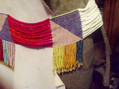 Vintage Native American Indian Beaded Tribal Regalia Sash