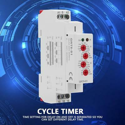 GRT8-S1 Mini Asymmetric Cycle Timer ON/OFF Repeat Cycle Time Relay AC 220V