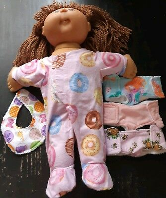 Homemade Cabbage Patch Clearance Bundle 8: Coverall, 3 Nappies And Bib
