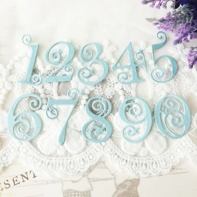 Lace Numbers Stamps Cutting Dies Metal Stencils Scrapbooking Cut Circle 10pcs