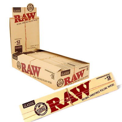 RAW Supernatural: 12 Inch Rolling Paper - Giant Foot Long Super King Size Paper