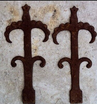Stunning Pair Of Antique Decorative Hinge Fronts