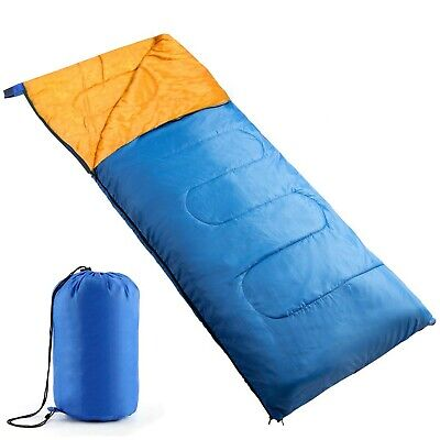 Sleeping Bag Single Adult Waterproof Camping Hiking Suit Case Envelope