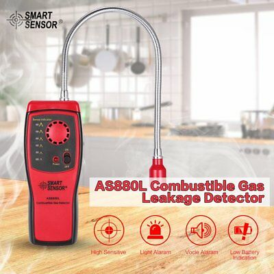 SMART SENSOR AS8800L Combustible Gas Detector Portable Gas Leakage Tester Tooae