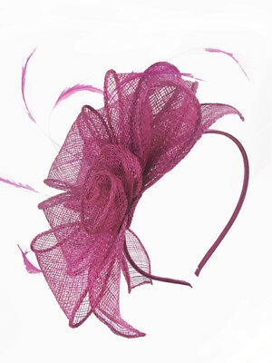 09c3b73d7ed30 RASPBERRY PINK SINAMAY   Feather Hairband Fascinator - £16.99 ...