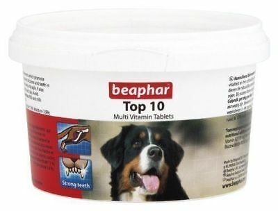 Beaphar Top 10 Multi Vitamins for Dogs x 180 Tablets  *SAMEDAY DISPATCH*