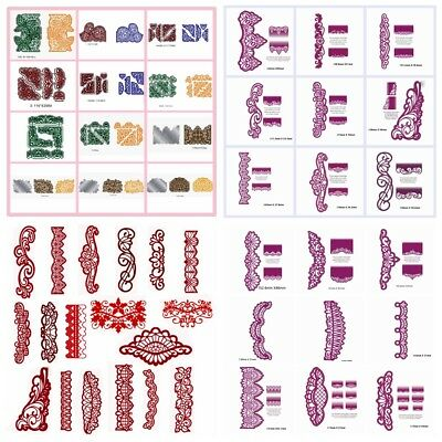 Retro Floral Lace Corners Edge Cutting Dies Stencil Scrapbooking Embossing DIY