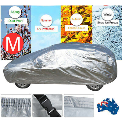 Waterproof Full Car Cover 3 Layer Heavy Duty Breathable UV Protection Medium AU