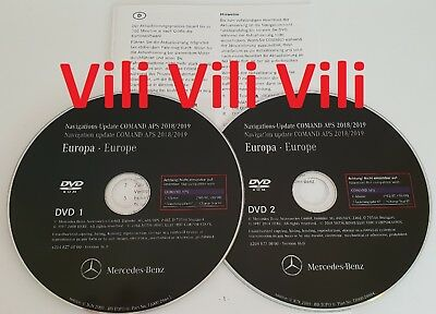 2019 Mercedes-Benz DVD Comand Aps Europa NTG4 W204 A2048270800 NEUE MAP UPDATE