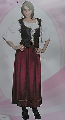 Medieval Womans Costume Pirate Serving Wench Fancydress  Post Free