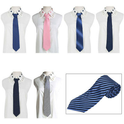 Mens Boys Tie Skinny Classic Office Wedding Solid Necktie Plain Smart Party Slim