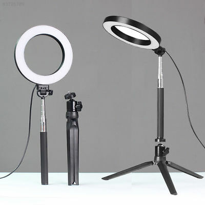 "AD18 6"" 5500K Dimmable Diva LED Ring Light Diffuser Stand Make Up Studio Selfie"
