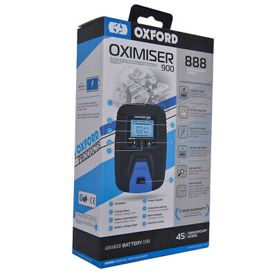 Oxford Oximiser 888 Motorcycle Bike 12V Battery Charger Optimiser Trickle Charge