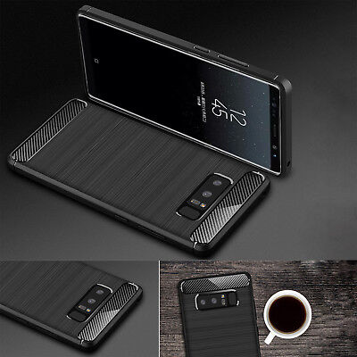 Silicone Slim Shockproof TPU Case Cover Carboon Rugged For Samsung Galaxy Note 8