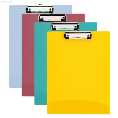 8F2A File Folder Practical Convenient Exam Paper Stationery Writing Clip PP
