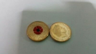2018 Remembrance Day Armistice Red Poppy $2 Two Dollar Coin RAM Uncirculated