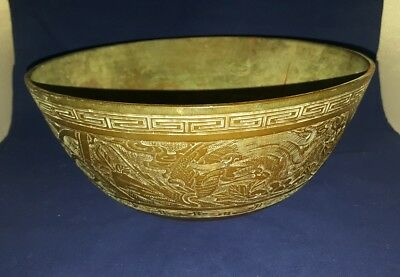 Rare Antique Chinese Bronze Ming Dynasty Xuande Mark Bowl