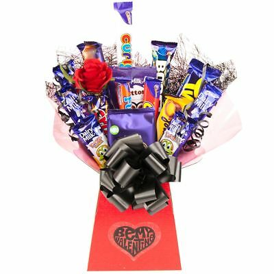 Cadbury Valentine Treats Chocolate Bouquet Gift Hamper - Perfect Valentines Gift