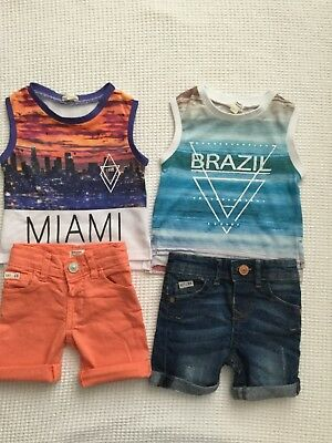 River Island Baby Boys 0-3 Months Summer Shorts Sets Bundle Combined Postage