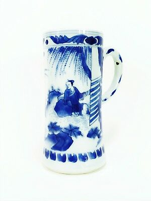 Ming Dynasty Chongzhen 崇祯 Chinese Antique Porcelain Blue And White Tankard 17thC