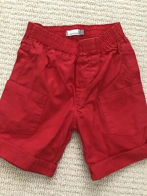 Catimini Red Baby Boy Shorts - 9 Months