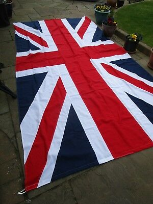 Massive Ex Army UNION JACK STITCHED PANEL FLAG BRITISH MADE 12ft x 6ft quality