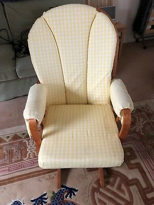 Dutailier Nursing Chair in Yellow